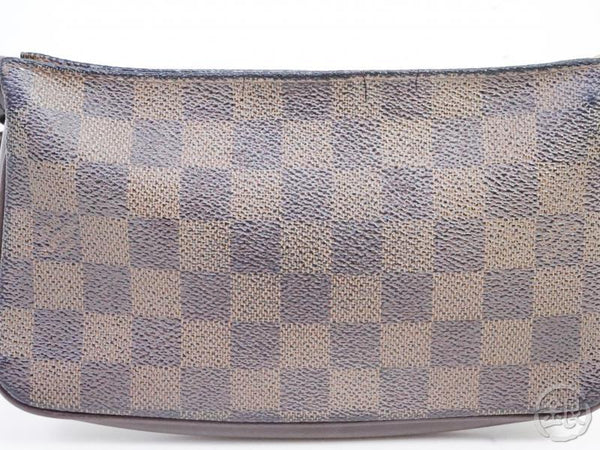 AUTHENTIC PRE-OWNED LOUIS VUITTON DAMIER EBENE NAVONA POCHETTE ACCESSOIRES POUCH BAG N51983 191443
