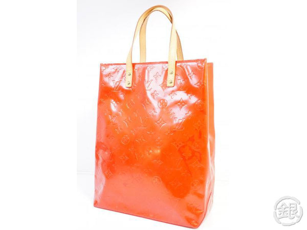 authentic pre-owned louis vuitton vernis rouge reade mm hand tote bag m91086 191577