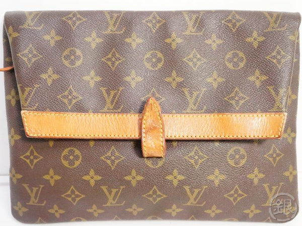 authentic pre-owned louis vuitton vintage monogram pochette pliante clutch bag m51805 no.234 191371