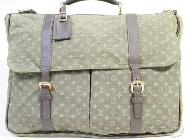 authentic pre-owned louis vuitton lv monogram mini khaki sac maman mother's bag m42351 191601
