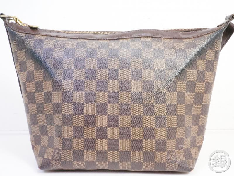 AUTHENTIC PRE-OWNED LOUIS VUITTON DAMIER EBENE ILLOVO MM SHOULDER BAG PURSE N51995 191589