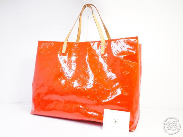 AUTHENTIC PRE-OWNED LOUIS VUITTON VERNIS ROUGE READE GM BIG SHOULDER TOTE BAG M91084 191585