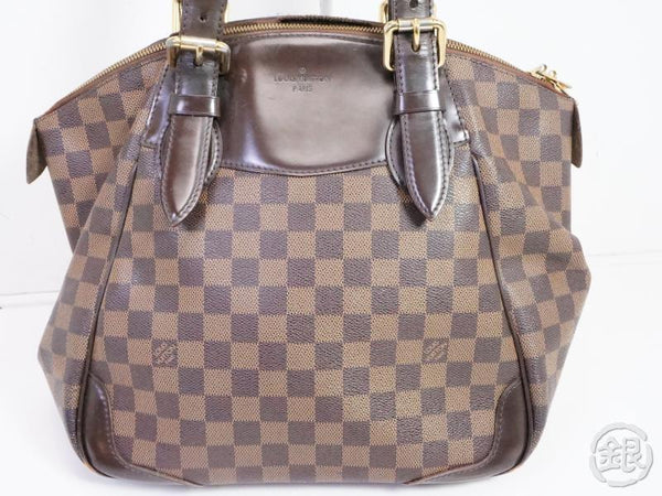 AUTHENTIC PRE-OWNED LOUIS VUITTON DAMIER EBENE VERONA MM  SHOULDER TOTE BAG N41118 191332