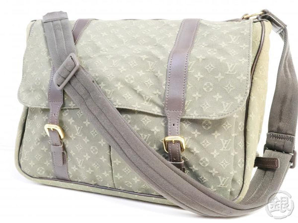 AUTHENTIC PRE-OWNED LOUIS VUITTON MONOGRAM MINI KHAKI SAC MAMAN CROSSBODY MOTHER'S BAG M42351 191594