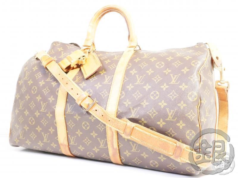 AUTHENTIC PRE-OWNED LOUIS VUITTON MONOGRAM KEEPALL BANDOULIERE 50 TRAVELING w/ STRAP M41416 191711