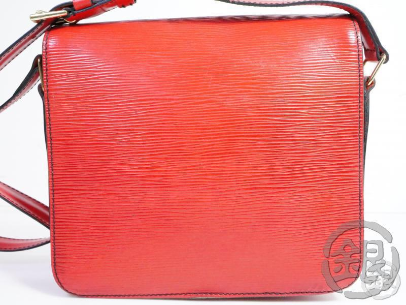 AUTHENTIC PRE-OWNED LOUIS VUITTON EPI ROUGE RED CARTOUCHIERE CROSSBODY SHOULDER BAG M52247 191769