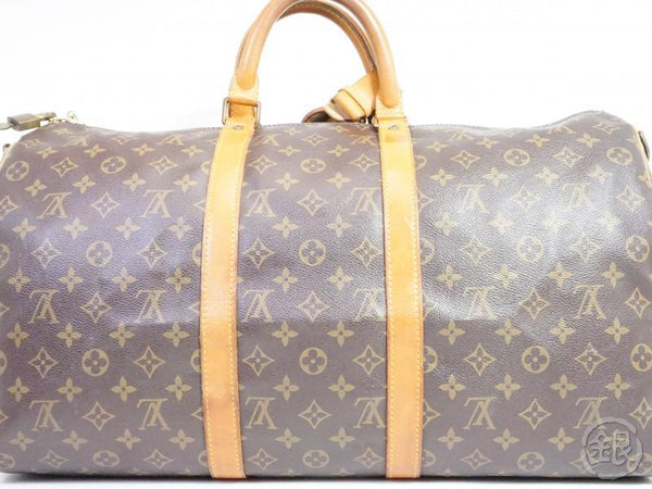 AUTHENTIC PRE-OWNED LOUIS VUITTON MONOGRAM KEEPALL BANDOULIERE 50 TRAVEL DUFFLE BAG M41416 181791