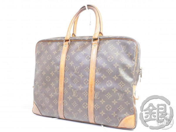 AUTHENTIC PRE-OWNED LOUIS VUITTON MONOGRAM VINTAGE PORTE-DOCUMENTS VOYAGE HAND BAG M53361 191743