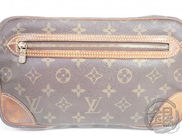 AUTHENTIC PRE-OWNED LOUIS VUITTON MONOGRAM POCHETTE MARLY DRAGONNE GM CLUTCH BAG M51825 191750