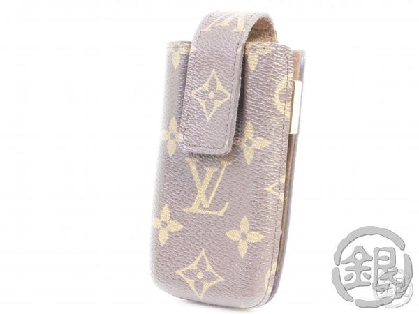 authentic pre-owned louis vuitton monogram etui telephone international pm case m63060 b191773