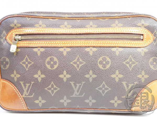 authentic pre-owned louis vuitton monogram pochette marly dragonne gm clutch bag m51825 191790