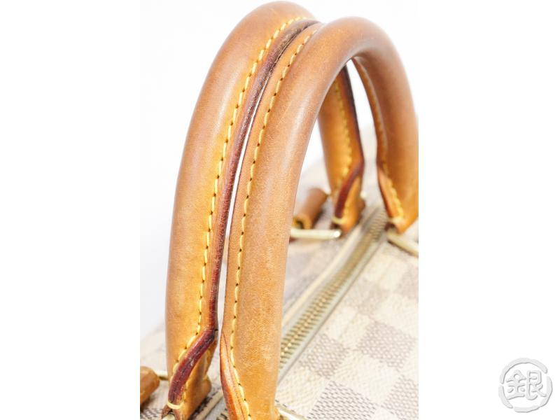 AUTHENTIC PRE-OWNED LOUIS VUITTON DAMIER AZUR SPEEDY 30 DUFFLE HAND BAG PURSE N41533 N41370 191808