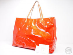 AUTHENTIC PRE-OWNED LOUIS VUITTON VERNIS ROUGE READE GM BIG SHOULDER TOTE BAG M91084 191716