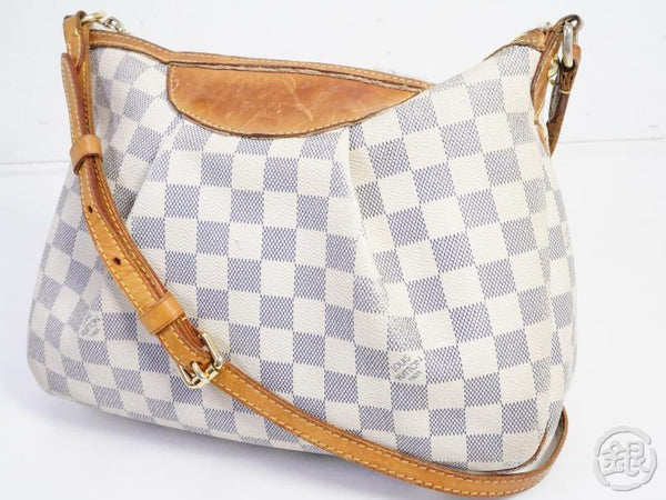 AUTHENTIC PRE-OWNED LOUIS VUITTON DAMIER AZUR SIRACUSA PM CROSSBODY MESSENGER BAG N41113 191730