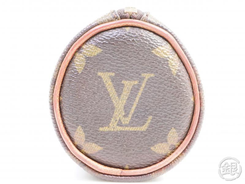 AUTHENTIC PRE-OWNED LOUIS VUITTON MONOGRAM TROUSSE RONDE PEN CASE COSMETIC POUCH BAG M47626 191783