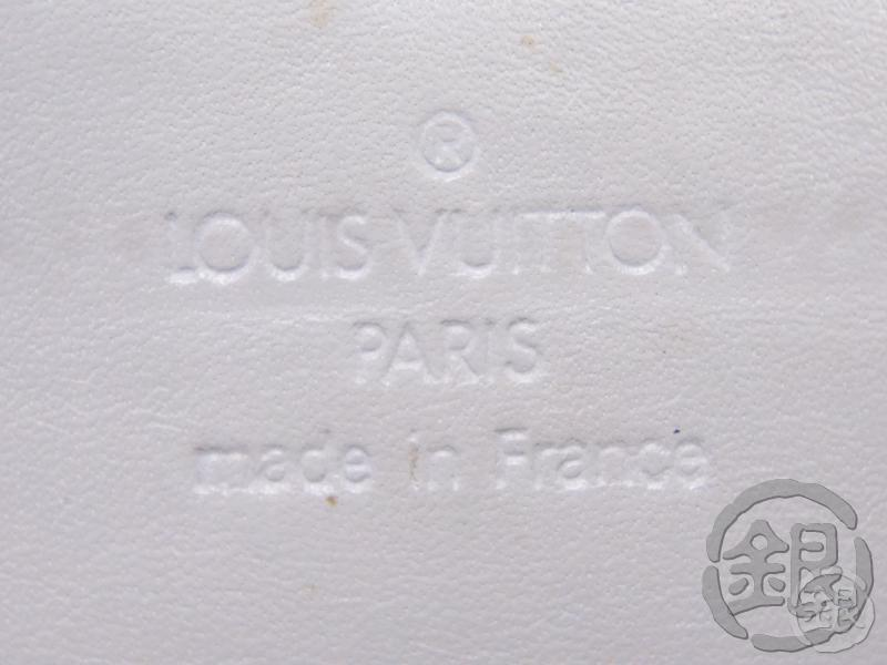 AUTH PRE-OWNED LOUIS VUITTON VERNIS GRAY SILVER GREENE CIGARETTE CASE POUCH  M91050 B191831
