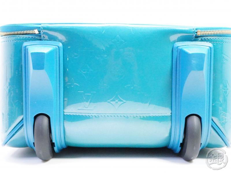 AUTHENTIC PRE-OWNED LOUIS VUITTON VERNIS BLUE GALACTIC PEGASE 45 TROLLEY BAG SUITCASE M93716 191842