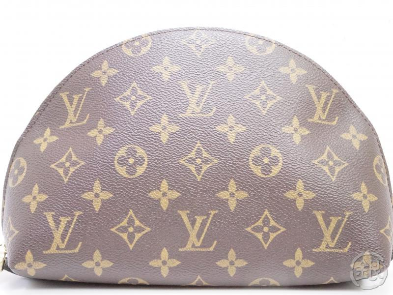 authentic pre-owned louis vuitton lv monogram trousse demi-ronde cosmetic pouch bag m47520 191727
