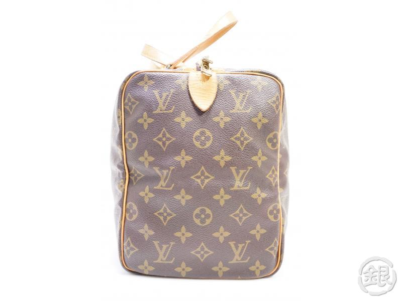 authentic pre-owned louis vuitton vintage monogram sac souple 35 traveling duffle bag m41626 191389