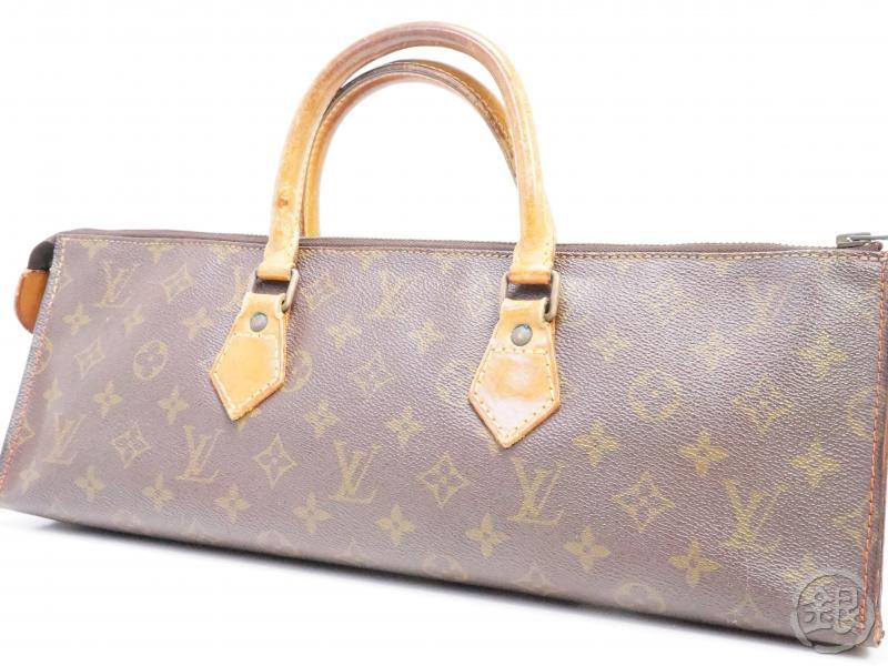 authentic pre-owned louis vuitton vintage monogram sac tricot triangle knitting no.76 m51360 191691