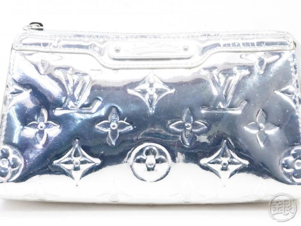 AUTHENTIC PRE-OWNED LOUIS VUITTON MONOGRAM MIROIR ARGENT SILVER TROUSSE COSMETIC POUCH M95603 191903