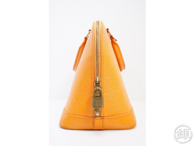 AUTHENTIC PRE-OWNED LOUIS VUITTON LV EPI MANDARIN ORANGE ALMA HAND BAG PURSE M5214H 191931