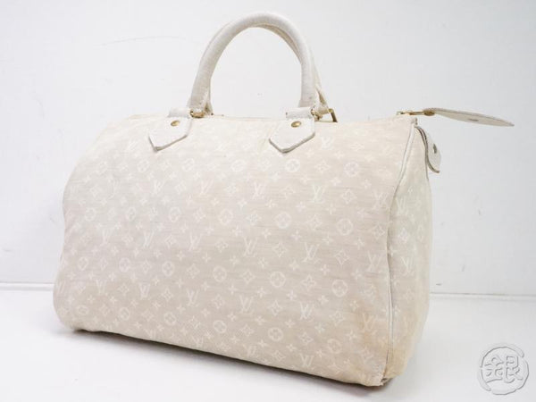 AUTHENTIC PRE-OWNED LOUIS VUITTON LV MONOGRAM MINI LIN DUNE SPEEDY 30 BOSTON HAND BAG M95319 191967