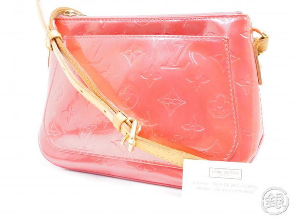authentic pre-owned louis vuitton vernis framboise pink minna street crossbody bag m9146f 191960