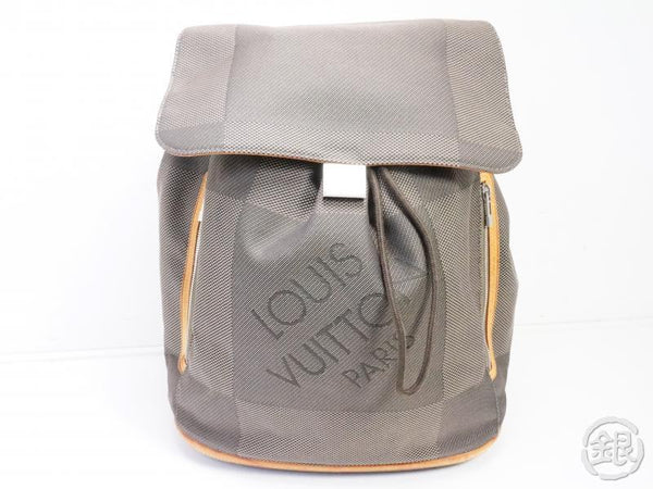 AUTHENTIC PRE-OWNED LOUIS VUITTON DAMIER GEANT TERRE DARK GRAY PIONNIER BACKPACK BAG M93055 191906