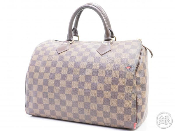 AUTHENTIC PRE-OWNED LOUIS VUITTON DAMIER EBENE SPEEDY 30 DUFFLE HAND BAG PURSE N41364 191900
