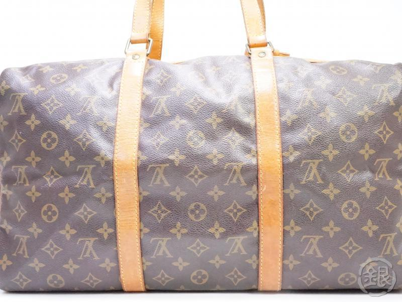 authentic pre-owned louis vuitton vintage monogram sac souple 45 traveling duffle bag m41624 181898