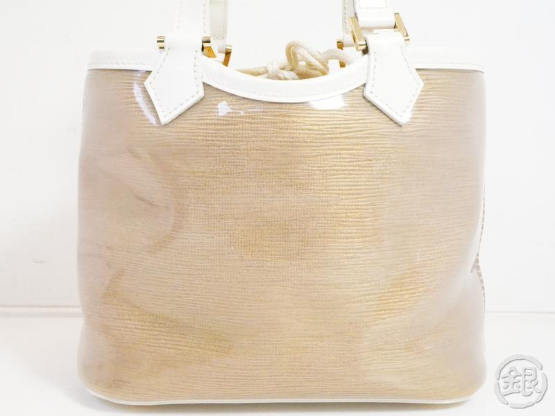 authentic pre-owned louis vuitton epi plage coconut white mini lagoon bay tote bag m92473 191984