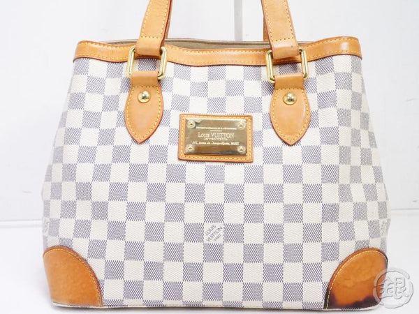 authentic pre-owned louis vuitton damier azur hampstead pm shoulder tote bag n51207 190824