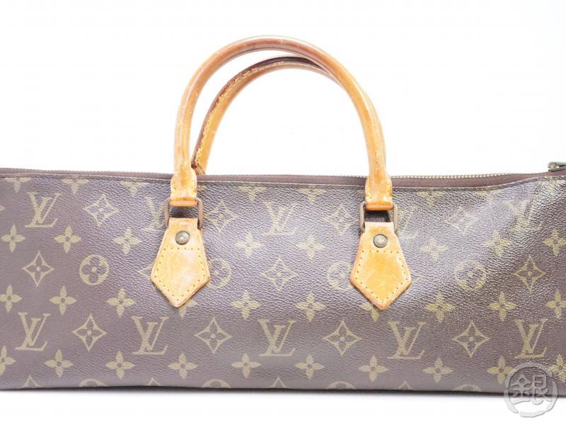AUTHENTIC PRE-OWNED LOUIS VUITTON VINTAGE MONOGRAM SAC TRICOT TRIANGLE KNITTING NO.76 M51360 190826