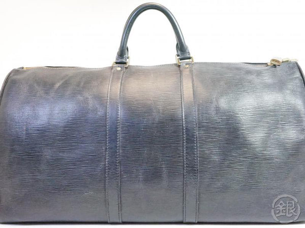 AUTHENTIC PRE-OWNED LOUIS VUITTON VINTAGE EPI BLACK NOIR KEEPALL 55 TRAVELING DUFFLE M42952 191974