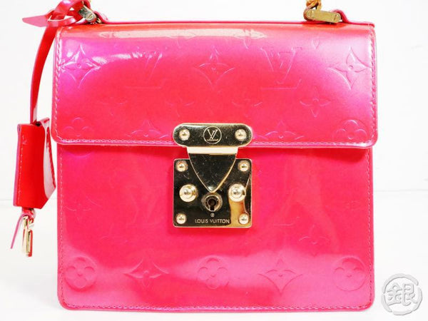 AUTHENTIC PRE-OWNED LOUIS VUITTON LV VERNIS FUCHSIA PINK SPRING STREET HAND BAG PARTY M91217 191982