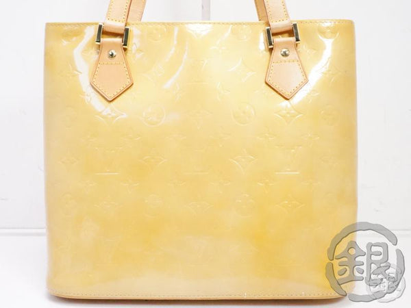 AUTHENTIC PRE-OWNED LOUIS VUITTON VERNIS BEIGE HOUSTON HAND TOTE BAG M91004 B191948