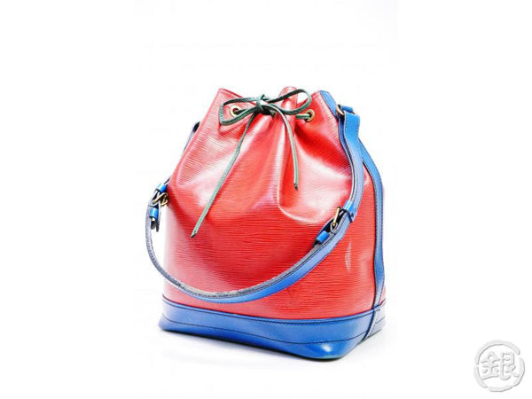 AUTHENTIC PRE-OWNED LOUIS VUITTON LV EPI TRICOLOR RED BLUE NOE SHOULDER BAG DRAWSTRING M44084 192050
