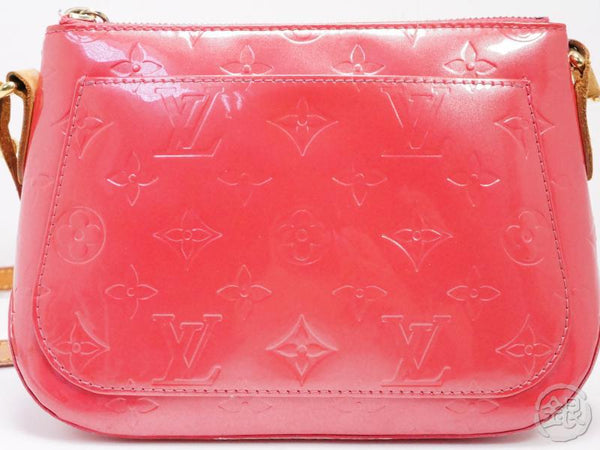 AUTHENTIC PRE-OWNED LOUIS VUITTON VERNIS FRAMBOISE PINK MINNA STREET CROSSBODY BAG M9146F 192020