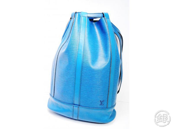 AUTHENTIC PRE-OWNED LOUIS VUITTON VINTAGE EPI TOLEDO BLUE RANDONNEE GM BACKPACK BAG M43085 192037