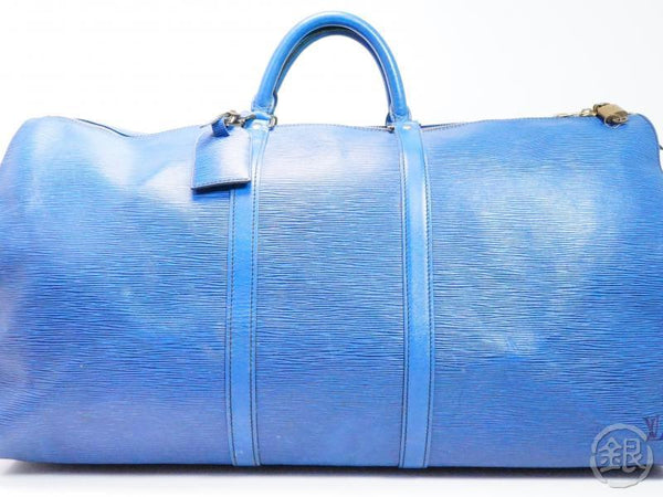 AUTHENTIC PRE-OWNED LOUIS VUITTON LV VINTAGE EPI BLUE KEEPALL 60 TRAVELING BAG DUFFLE M42945 192029