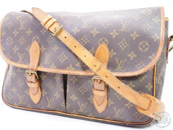 authentic pre-owned louis vuitton lv monogram vintage sac gibeciere gm messenger bag m42249 192060