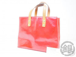 AUTHENTIC PRE-OWNED LOUIS VUITTON VERNIS FRAMBOISE PINK READE PM MINI HAND TOTE BAG M9132F B200065