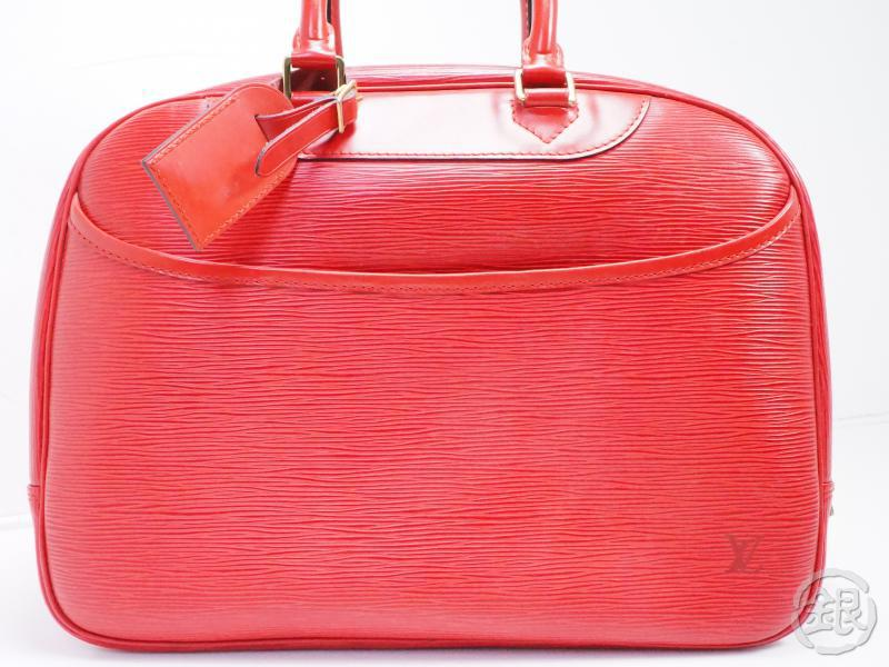 AUTHENTIC PRE-OWNED LOUIS VUITTON SPECIAL ORDERED EPI ROUGE DEAUVILLE COSMETIC BOSTON BAG 200042