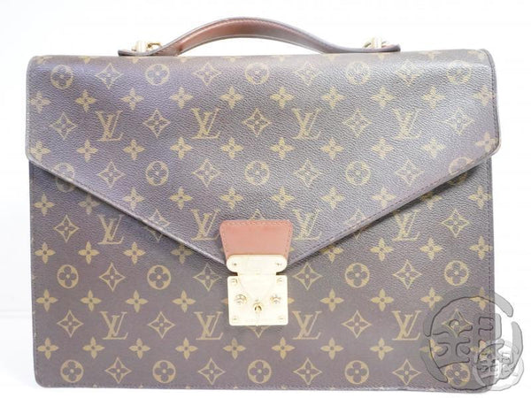 AUTHENTIC PRE-OWNED LOUIS VUITTON MONOGRAM PORTE-DOCUMENTS BANDOULIERE 2-WAY BAG M53338 162218