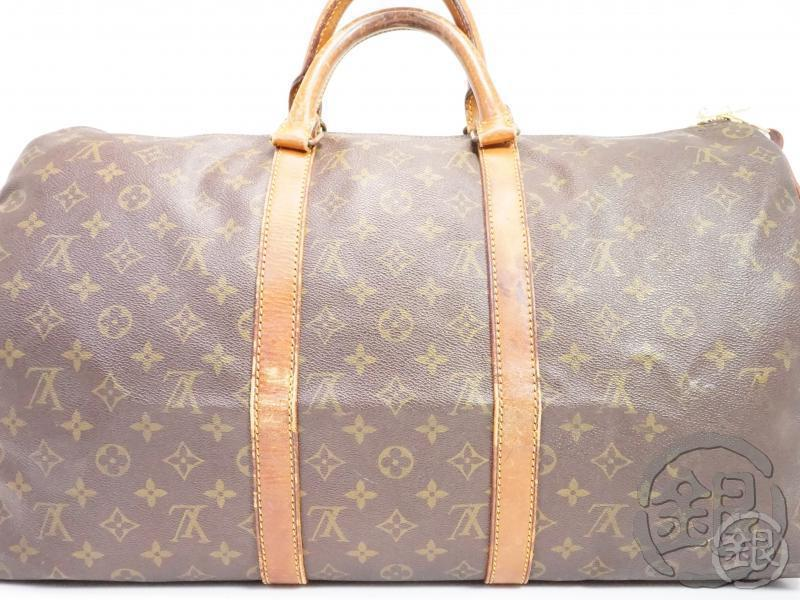 AUTHENTIC PRE-OWNED LOUIS VUITTON VINTAGE MONOGRAM KEEPALL 50 TRAVELING DUFFLE BAG M41426 190839