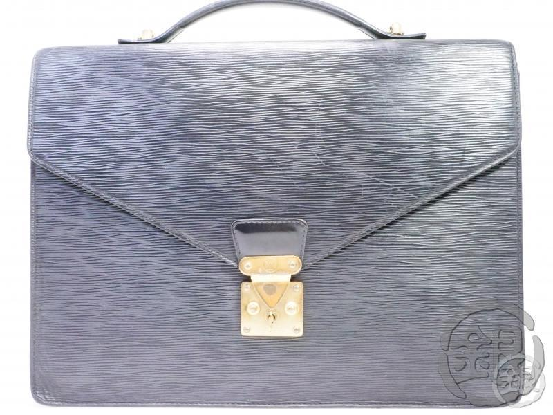 authentic pre-owned louis vuitton lv epi black porte-documents bandouliere 2-way bag m54462 200020