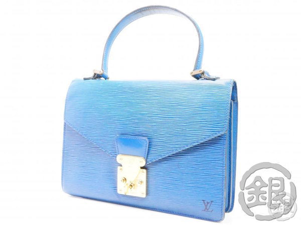 AUTHENTIC PRE-OWNED LOUIS VUITTON LV EPI TOLEDO BLUE CONCORDE HAND BAG PURSE M52135 192048