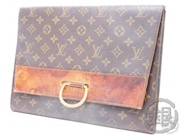 AUTHENTIC PRE-OWNED LOUIS VUITTON MONOGRAM VINTAGE POCHETTE IENA 28 CLUTCH BAG 192033