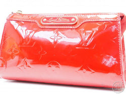 AUTHENTIC PRE-OWNED LOUIS VUITTON VERNIS POMME D'AMOUR RED TROUSSE COSMETIC POUCH BAG M93568 200035